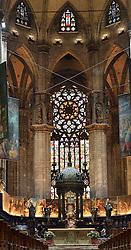 29.11.2013, Mailand, ITA, Architektur in Mailand, Mailand ist bekannt für historisch bedeutsame Bauwerke, im Bild Innenaufnahme Chor, Altar im MailaeŠnder Dom aufgenommen am 15 11 2013 // interior shot at Mailaender Dom, Mailand, Italy on 2013/11/15. EXPA Pictures © 2013, PhotoCredit: EXPA/ Eibner/ Eckhard Eibner<br /> <br /> *****ATTENTION - OUT of GER*****