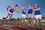 Sean O'Bryan, left, Jonathon Cantle, Ryan Finch and Michael Purdy will be competing at the 96th annual CIF State Track & Field Championships in the 4x400 meter relay for Westlake High School.