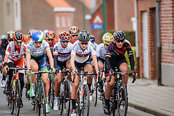 Leaders approach Kemmelberg for the final time - Women's Gent Wevelgem 2016, a 115km UCI Women's WorldTour road race from Ieper to Wevelgem, on March 27th, 2016 in Flanders, Belgium.