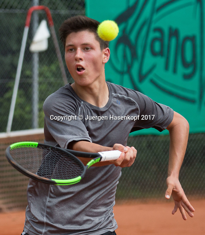 FREDERIC KRUSEMARK (GER), Bavarian Junior Open 2017, Tennis Europe Junior Tour, BS16<br /> <br /> Tennis - Bavarian Junior Open 2017 - Tennis Europe Junior Tour -  SC Eching - Eching - Bayern - Germany  - 9 August 2017. <br /> &copy; Juergen Hasenkopf