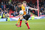 Grimsby Town midfielder Harry Clifton (15)  during the EFL Sky Bet League 2 match between Grimsby Town FC and Port Vale at Blundell Park, Grimsby, United Kingdom on 10 March 2018. Picture by Mick Atkins.
