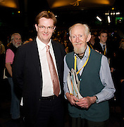 Liberal Democrats<br /> Autumn Conference 2011 <br /> at the ICC, Birmingham, Great Britain <br /> <br /> 17th to 21st September 2011 <br /> <br /> The Right Honourable<br /> Danny Alexander <br /> MP Chief Secretary to the Treasury with his grandfather<br /> <br /> Photograph by Elliott Franks