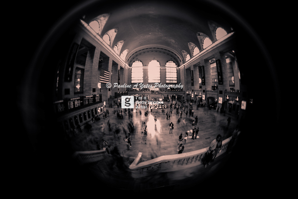 Grand Central Station, New York. Fish-eye lens: Scout by Lensbaby.<br />