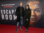 2019, Februari 22. Pathe ArenA, Amsterdam. Premiere van Escape Room. Op de foto: Yes R en Cheyen van Slee
