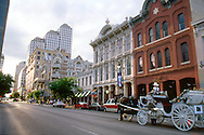 Horse drawn carriage, downtown 6th street