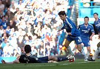 Photo: Tony Oudot.<br />Chelsea v Sheffield United. The Barclays Premiership. 17/03/2007.<br />Rob Hulse of Sheffield United screams in pain as he collides with Petr Cech of Chelsea