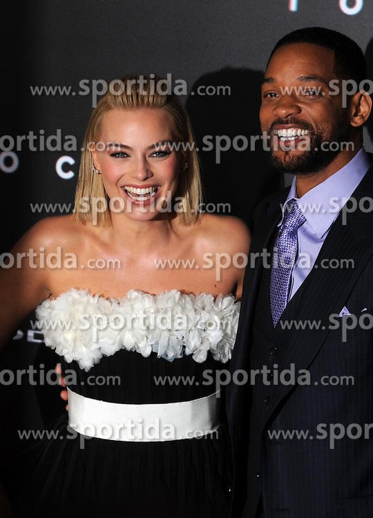 Margot Robbie, Will Smith, Warner Bros Pictures presents the Los Angeles World Premiere of 'Focus', at the TCL Chinese Theatre, February 24, 2015 - Hollywood, California. EXPA Pictures &copy; 2015, PhotoCredit: EXPA/ Photoshot/ Celebrity Photo<br /> <br /> *****ATTENTION - for AUT, SLO, CRO, SRB, BIH, MAZ only*****