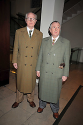 Artsists GILBERT & GEORGE at the MAC Salutes party paying tribute to renowned makeup artists held at The Hosptal, Endell Street, London on 22nd February 2009.