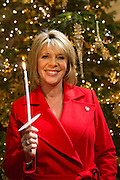 Ruth Langsford, celebrity ambassador and supporter. Carols by candlelight. An evening of celebration and song for the Alzheimers's Society. St Pauls Church, Knightbridge, London.