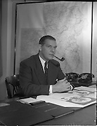 19/01/1960.01/19/1960.19 January 1960.Mr. Simmes Sales Manager at Irish Shell in his office.