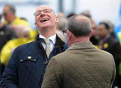 Nicola-Sturgeon, South Queensferry, 28-4-2016<br /> <br /> John Swinney and Stewart Hogie chat<br /> <br /> (c) David Wardle | Edinburgh Elite media