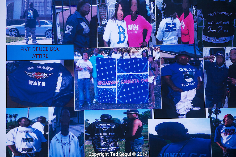 "1300 FBI agents along with LAPD officers arrested 50 people in South Los Angeles associated with the Five Deuce Broadway Gangster Crips. The operation was code named ""Gremlin Riderz"" after a subset of the Crips gang. A 112 count indictment was served to the 200 member gang during coordinated raids this morning."