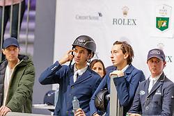 GUERDAT Steve (SUI), FUCHS Martin (SUI)<br /> Genf - CHI Geneve Rolex Grand Slam 2019<br /> Impressionen am Rande<br /> ROLEX Top 10 Finale<br /> 19th Rolex IJRC Top 10 Final<br /> International Jumping Competition 1m60<br /> Table A: Two Rounds, 1st and 2nd Round Against the Clock<br /> 13. Dezember 2019<br /> © www.sportfotos-lafrentz.de/Stefan Lafrentz