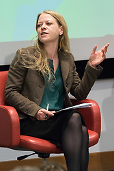 Royal Society of Medicine, London, March 4th 2016.  Green Party mayoral candidate Sian Berry at the Greener London Mayoral hustings held at the Royal Society of Medicine in London. ///FOR LICENCING CONTACT: paul@pauldaveycreative.co.uk TEL:+44 (0) 7966 016 296 or +44 (0) 20 8969 6875. ©2015 Paul R Davey. All rights reserved.