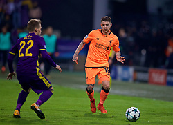MARIBOR, SLOVENIA - Tuesday, October 17, 2017: Liverpool's Alberto Moreno during the UEFA Champions League Group E match between NK Maribor and Liverpool at the Stadion Ljudski vrt. (Pic by David Rawcliffe/Propaganda)