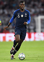 FUSSBALL UEFA Nations League in Muenchen Deutschland - Frankreich       06.09.2018 Paul Pogba (Frankreich) --- DFB regulations prohibit any use of photographs as image sequences and/or quasi-video. ---