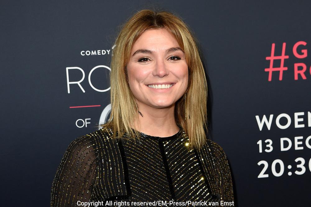 Rode loper Roast of Giel.  In het programma van Comedy Central is een bekende Nederlander een avond lang het onderwerp van harde grappen.<br /> <br /> Op de foto:  Evi Hanssen