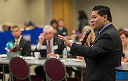 Houston ISD Superintendent Richard Carranza meets to discuss partnerships with representatives from universities across the state, February 22, 2017.