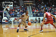 "Mississippi's Jarvis Summers (32) vs. Alabama guard Trevor Releford (12) at the C.M. ""Tad"" Smith Coliseum in Oxford, Miss. on Wednesday, February 26, 2014. (AP Photo/Oxford Eagle, Bruce Newman)"
