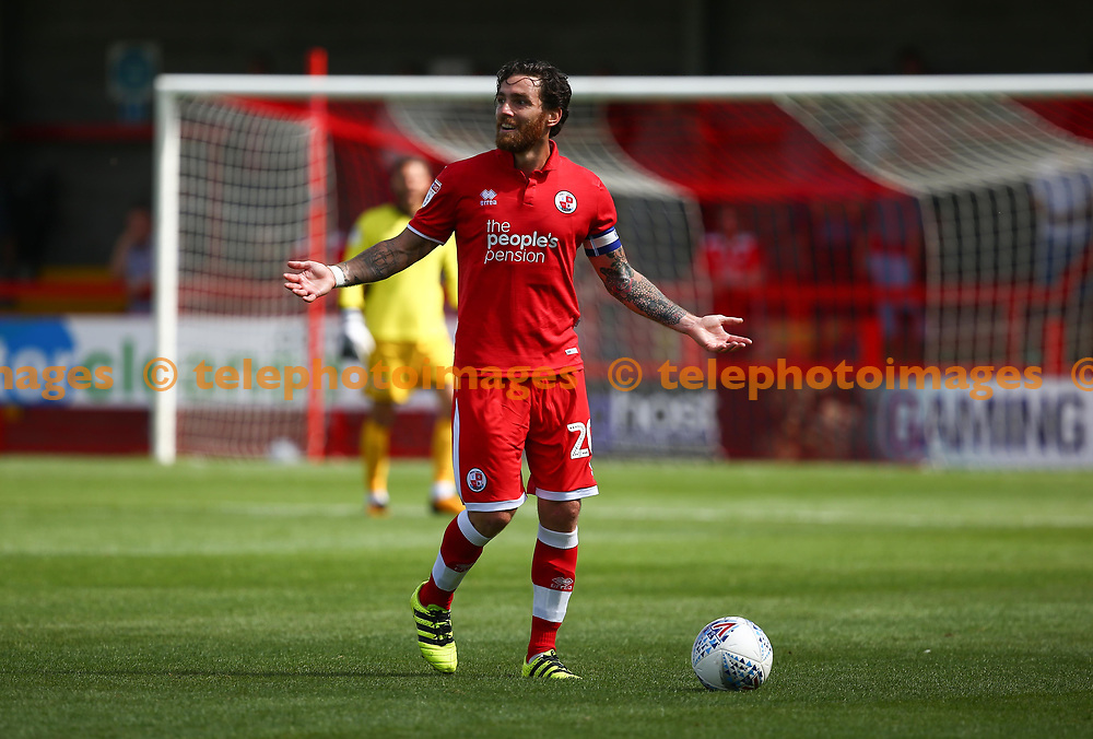 Crawley's Romain Vincelot during the pre season friendly between Crawley Town and KSV Roeselare at The Broadfield Stadium, Crawley , UK. 28 July 2018.