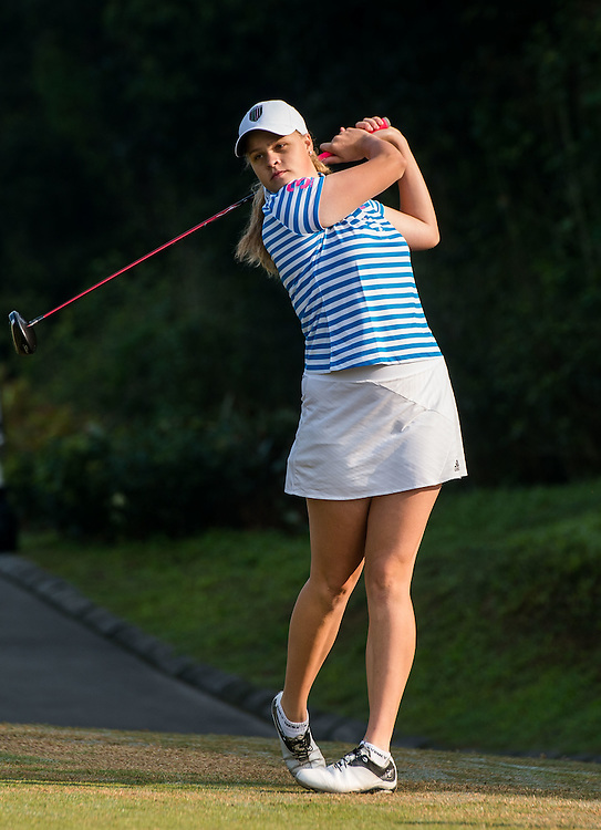 Lucy Harris of Australia in action during day one of the 10th Faldo Series Asia Grand Final at Faldo course in Shenzhen, China. Photo by Xaume Olleros.
