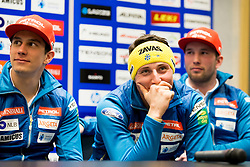 Stefan Hadalin at press conference of Slovenian Alpine Ski Team before World Cup in St. Moritz, on January 31 2017, in Ljubljana, Slovenia. Photo by Urban Urbanc / Sportida