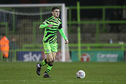Forest Green Rovers Liam Kitching(20) on the ball during the EFL Sky Bet League 2 match between Forest Green Rovers and Exeter City at the New Lawn, Forest Green, United Kingdom on 1 January 2020.