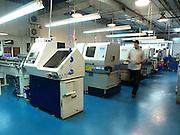 Lathe at a Computerized automatic Machining work shop.
