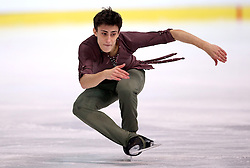 04.12.2015, Dom Sportova, Zagreb, CRO, ISU, Golden Spin of Zagreb, freies Programm, Herren, im Bild Mattia Dalla Torre, Italy. // during the 48th Golden Spin of Zagreb 2015 men Free Program of ISU at the Dom Sportova in Zagreb, Croatia on 2015/12/04. EXPA Pictures © 2015, PhotoCredit: EXPA/ Pixsell/ Igor Kralj<br /> <br /> *****ATTENTION - for AUT, SLO, SUI, SWE, ITA, FRA only*****