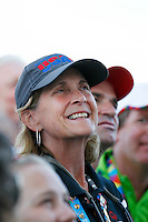 1 August 2015: Special Olympic World Games Los Angeles Sailing Finals in Long Beach, California.  Team USA head coach Meta Frasch listening to team speeches after final event on Sunday in Long Beach, CA.