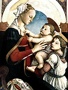 he Madonna and Child with an Angel is a painting by the Italian Renaissance painter Sandro Botticelli, c. 1465-1467. It is housed in Spedale degli Innocenti of Florence.