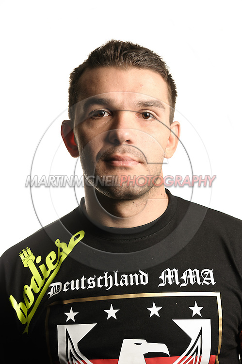 A portrait of mixed martial arts athlete Peter Sobotta
