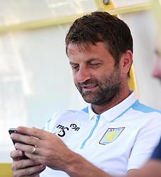 Aston Villa Manager, Tim Sherwood reads a message on his phone  - Photo mandatory by-line: Joe Meredith/JMP - Mobile: 07966 386802 - 17/07/2015 - SPORT - Football - Albufeira - Estadio Da Nora - Pre-Season Friendly