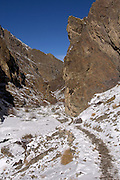 Leh - Tuesday, Dec 05 2006: View of the main path towards Leh in the Rumbak Valley in Hemis National Park. (Photo by Peter Horrell / http://www.peterhorrell.com)