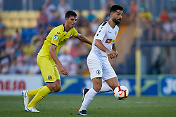July 17, 2018 - Villareal, Castellon, Spain - Carlos Martinez (R) of Hercules CF competes for the ball with Pau of Villarreal CF during the Pre-Season Friendly match between Villarreal CF and Hercules CF at Mini Estadi on July 17, 2018 in Vila-real, Spain  (Credit Image: © David Aliaga/NurPhoto via ZUMA Press)