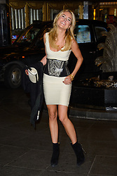 Kimberley Garner attends the Kate Moss Photo Exibition. The Savoy Hotel, London, United Kingdom. Thursday, 30th January 2014. Picture by Chris Joseph / i-Images