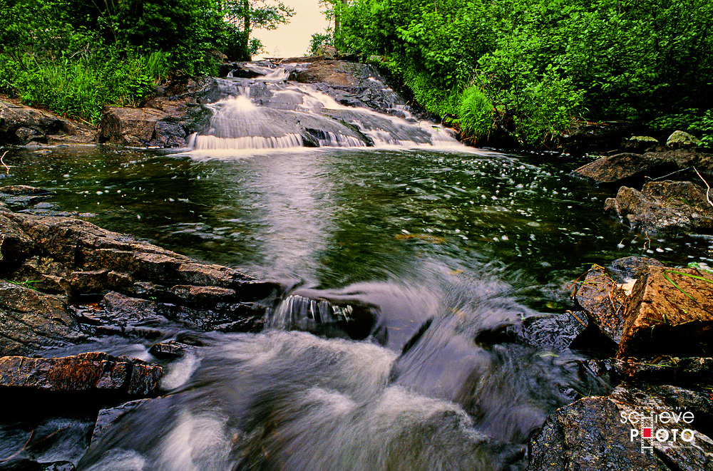 One of the thousands of small streams that flow throughout the Quetico Provincial Park in Canada.