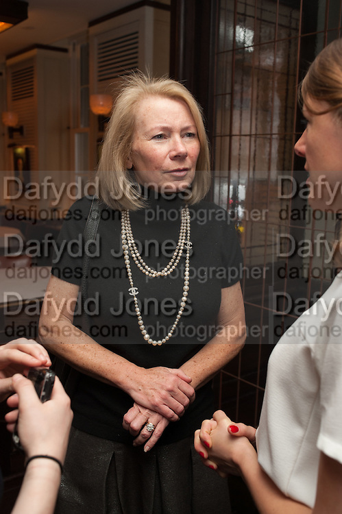 ANNIE HOLCROFT, Vanity Fair Lunch hosted by Graydon Carter. 34 Grosvenor Sq. London. 14 May 2013