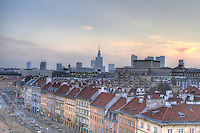 Warsaw downtown panorama