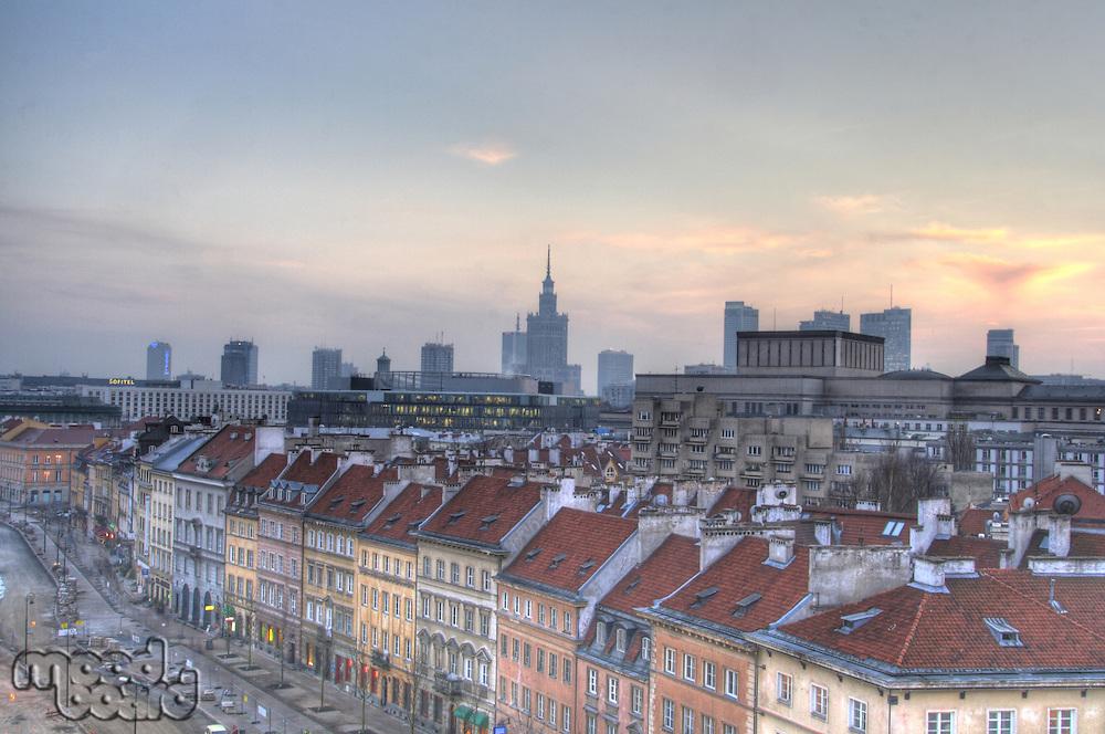 Warsaw downtown panorama
