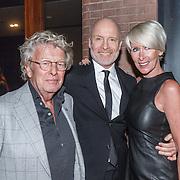NLD/Amsterdam/20160306 - Modeshow Mart Visser 2016, Mart Visser,  Jan des Bouvrie en partner Monique