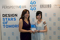 Sonya Fu receives her 40 Under 40 Perspective magazine award.