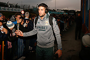 Leeds United goalkeeper Francisco Casilla (13) arrives  during the EFL Sky Bet Championship match between Leeds United and West Bromwich Albion at Elland Road, Leeds, England on 1 October 2019.