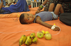 60155160 <br /> A schoolchild is treated at Patna medical college and hospital after eating a free mid-day school meal in Chapra district of Bihar, India, July 18, 2013. The Indian government Thursday decided to set up a committee to review the implementation of its flagship free midday meal scheme for schoolchildren, after at least 27 children died of a massive poisoning in a midday meal on Tuesday, which also downed more than 50 other children,<br /> India,<br /> Thursday, 18th July 2013<br /> Picture by imago / i-Images<br /> UK ONLY