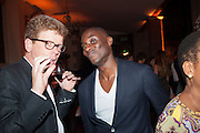 EKOW ESHUN, Victoria Miro hosts Supper to celebrate Frieze and Frieze Masters . One Mayfair, London. 17 October 2013