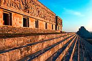 MEXICO, MAYAN, YUCATAN Uxmal; the 'Governor's Palace'