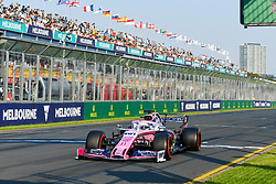 March 16, 2019 - Melbourne, Victoria, Australia - Sergio Perez (11) of Mexico drives the Racing Point RP19 during qualifying for the Australian Formula 1 Grand Prix at Albert Park on March 16, 2019 in Melbourne, Australia  (Credit Image: © Morgan Hancock/NurPhoto via ZUMA Press)