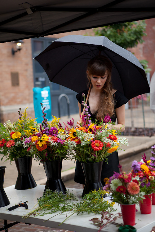 03 September 2011- Josee is photographed at The Farmer's Market in Downtown Omaha for Her Magazine.