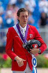 FUCHS Martin (SUI)<br /> Tryon - FEI World Equestrian Games™ 2018<br /> Siegerehrung / Medaillenvergabe<br /> FEI World Individual Jumping Championship<br /> Third cometition - Round B<br /> 3. Qualifikation Einzelentscheidung 1. Runde<br /> 23. September 2018<br /> © www.sportfotos-lafrentz.de/Stefan Lafrentz