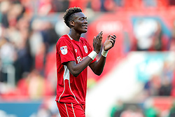 Tammy Abraham thanks the fans after Bristol City win 1-0 - Rogan Thomson/JMP - 22/10/2016 - FOOTBALL - Ashton Gate Stadium - Bristol, England - Bristol City v Blackburn Rovers - Sky Bet EFL Championship.